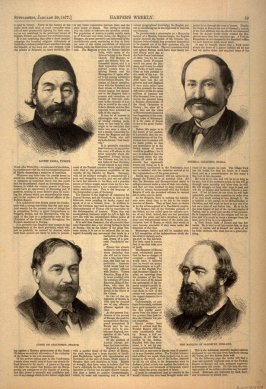"A Map and Four Portraits illustrating ""The Eastern Question"" from Harper's Weekly, (20 January 1877), pp. 59-60"
