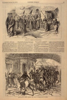 Eastern Sketches, from Harper's Weekly (20 January 1877, p. 57)