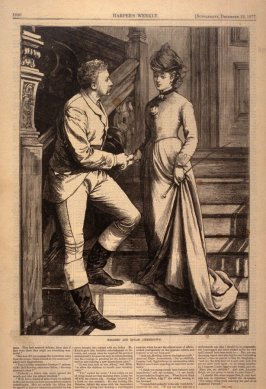 Mildred and Edgar Ammerdown, from Harper's Weekly, (22 December 1877), p. 1020