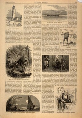 Seven Engravings illustrating a Journey, from Harper's Weekly, (14 April 1877), p. 285