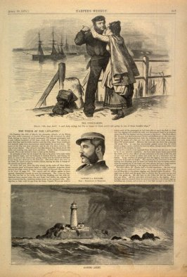 """The Wreck of the """"Atlantic"""" , from Harper's Weekly 19 April 1873, p. 317"""