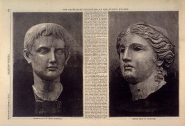 Marble Head of Young August -and- Bronze Head of Aphrodite, from Harper's Weekly (4 October 1873), p. 885