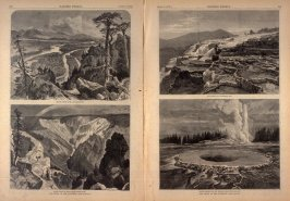 The Heart of the Continent, Four illustrations from Harper's Weekly, (5 April 1873), p. 272-273