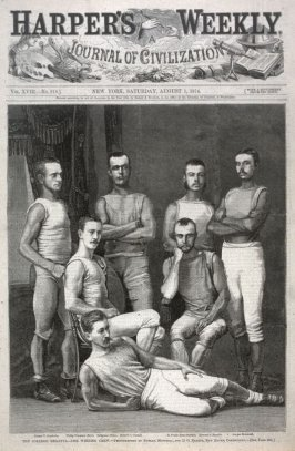 The College Regatta- The Winning Crew - Title page from Harper's Weekly, (1 August 1874)