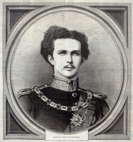 Portrait of Ludwig II, King of Bavaria, from Harper's Weekly 31 January 1874, p. 109
