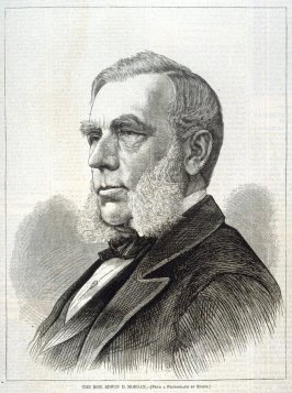 The Hon. Edwin D. Morgan, from Harper's Weekly, (9 September 1876), p. 824