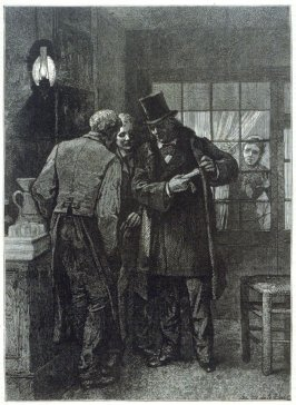 Victor Hugo in Auguste's Wine-Shop, fromHarper's Weekly, (22 December 1877), p. 1001