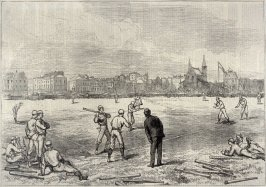 The American Baseball in England- Match between the Red Stockings and the Athletics, Prince's Ground, Brompton - p.754 from Harper's Weekly 12 September 1874