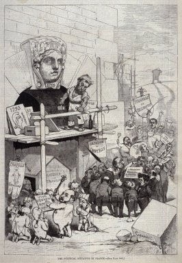 The Political Situation in France, from Harper's Weekly, {22 November 1873), p. 1041