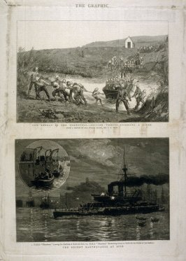 The Revolt in the Transvaal -and- The Recent Earthquakes at Scio - p.389 The Graphic 23 April 1881