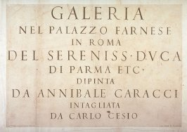 Frontispiece for the series Galeria Nel Palazzo Farnese in Roma...da Annibale Carracci