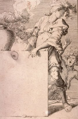 Frontispiece, copy in reverse after the etching by Salvator Rosa from the series Figurine