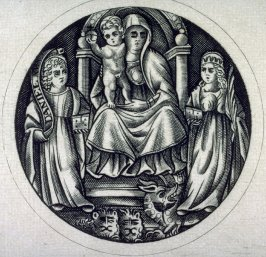 Virgin and Child with Daniel and a Female Martyr Saint