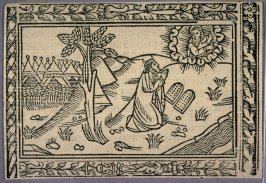 Woodcut Illustration for a Latin Bible (Moses Receiving the Ten Commandments)