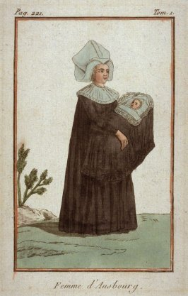 Woman of Augsburg and her swaddled infant