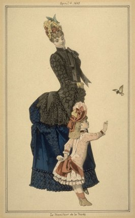 Young French mother and daughter, 1885