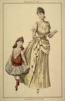 Young French mother and daughter 1886
