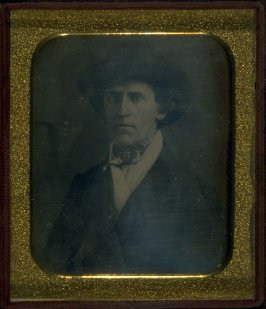 Portrait of a Man (Hat, dark suit, ascot and white scarf)