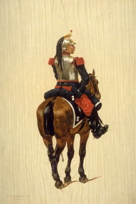 none: French soldier on horse