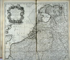 Map of the Netherlands - Pl.3 from: Netherlands 1566-1672