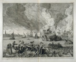 Naval Combat of the 'North-Hollanders' against the Duke of Bossu, October 11 and 12, 1573 - Pl.12 from: Netherlands 1566-1672
