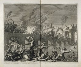 Maastricht Sacked by the Prince of Parma, July 29, 1579 - Pl.18 from: Netherlands 1566-1672