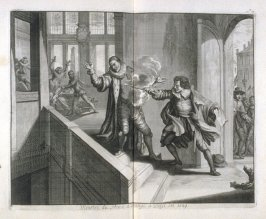 The Murder of the Prince of Orange in Delft in 1589 - Pl.22 from: Netherlands 1566-1672