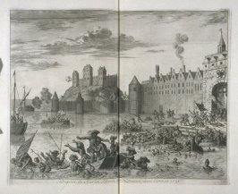 Attack of Martin Schenk on Nijmegen, in the year 1589 - Pl.30 from: Netherlands 1566-1672