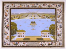 The Lake of Kashmir with the Gardens, a page from the Lady Coote Album