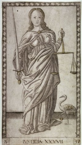 Justice, from a set of Tarot Cards (E-series)
