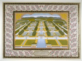 The Gardens and Waterfalls of Kashmir,a page from the Lady Coote Album