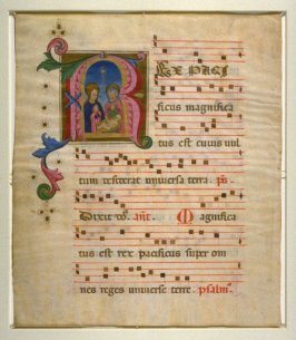 "Holy Family and Sheet of Music: ""Ex pacificus magnificatus est..."""