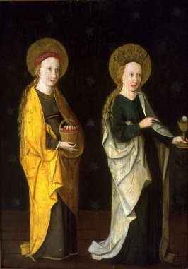 Saint Barbara and another Female Saint
