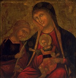 Madonna and child (Mystic Marriage of St. Catherine)