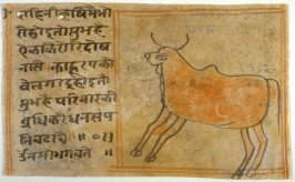 Untitled (cow), fragment on the verso side of a manuscript page