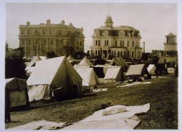 Tents in Lafayette Square (San Francisco Earthquake)