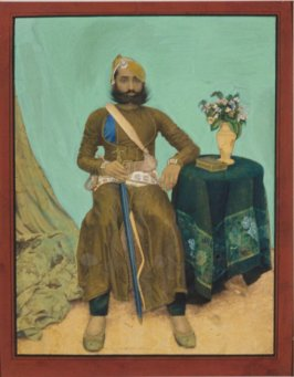 A Seated Rajput or Sikh Prince