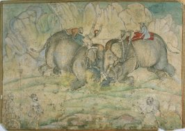 Untitled (two elephants in combat)