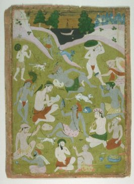 Untitled (Group of Hindu Holy Men in Various States of Intoxication)