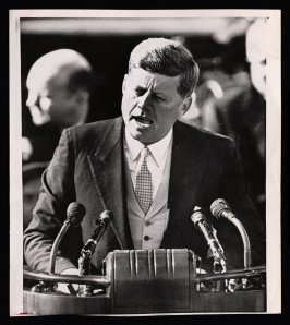 President Kennedy Delivering His Inaugural Speech