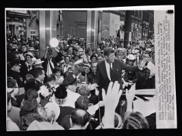 Kennedy Waves to Fans in Cleveland