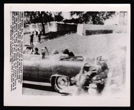 Kennedy Hit By Assassin's Bullet