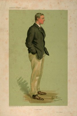 """a good stroke."" (R.C. Bourne.), Men of the Day No. 1272, from Vanity Fair Supplement"