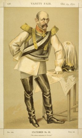 Statesmen No. 66 - Count von Bismarck - Schoenausen from Vanity Fair October 15, 1870