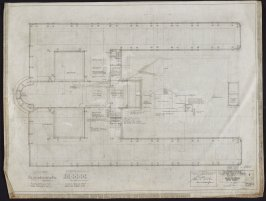 California Palace of the Legion of Honor: Attic Floor Plan, fourth from a group of nineteen presentation drawings