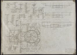 California Palace of the Legion of Honor: Auditorium Foundation Plan, tenth from a group of nineteen presentation drawings
