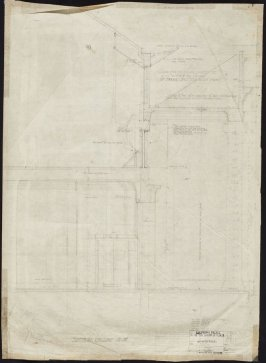 California Palace of the Legion of Honor: Untitled (Section on Line M-M), eighth from a group of seventy architectural study drawings