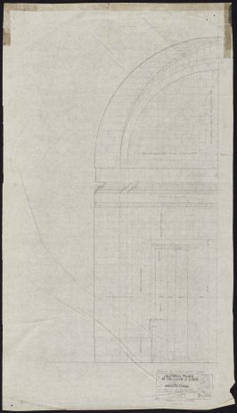 California Palace of the Legion of Honor: End Wall Gallery #10, eighteenth from a group of seventy architectural study drawings