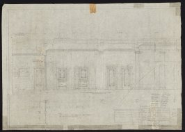 California Palace of the Legion of Honor: Section through Vestibule, nineteenth from a group of seventy architectural study drawings