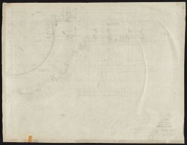 California Palace of the Legion of Honor: Plan @ S.W. Wall Showing Columns under Dome, twenty-eighth from a group of seventy architectural study drawings